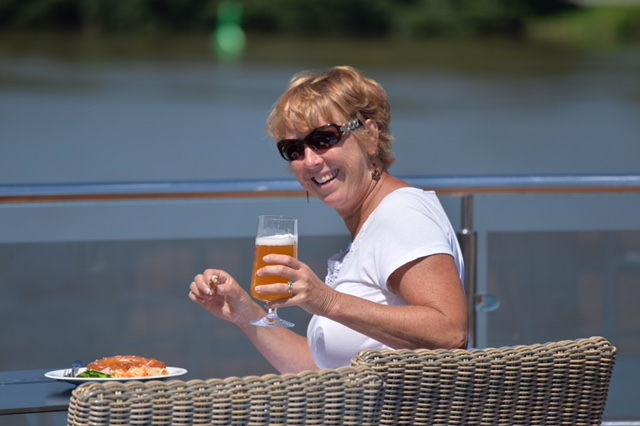 Lorraine Whittemore cruising the Danube.