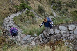 Stairs down after Dead Woman's Pass